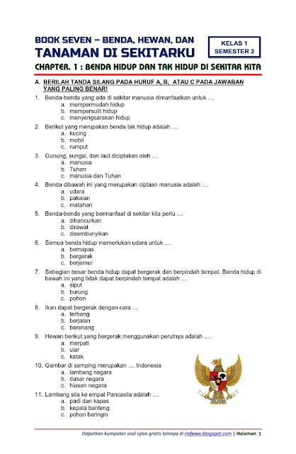 Contoh Soal Bahasa Indonesia Kelas 1 Sd Tema 1 - Guru Paud
