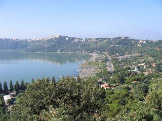 The pope's summer residence at Castel Gandolfo  overlooks Lake Albano