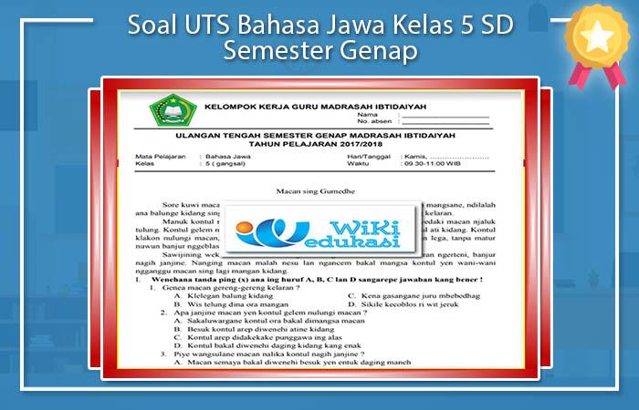 Soal UTS B.Jawa Kelas 5 Semester 2