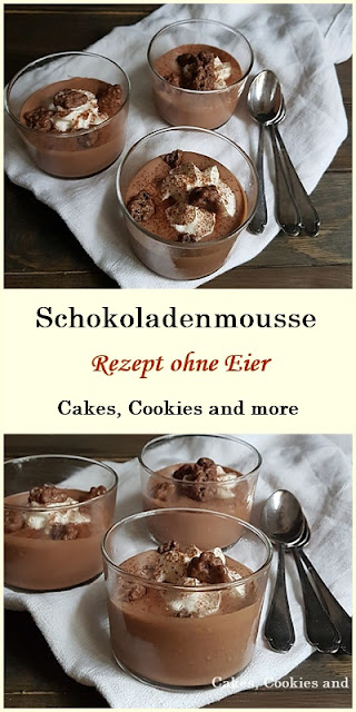 Schnelles Rezept für Schokoladenmousse / Ovomaltinemousse ohne Eier