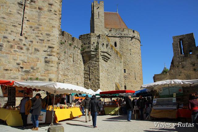 Mercado en la liza de Carcassonne