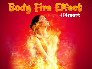 Tutorial Picsart , Membuat Efek Manusia Terbakar