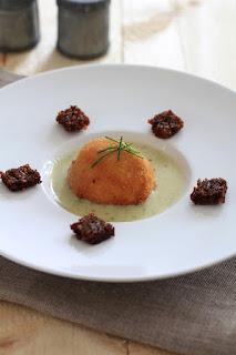 oeuf mollet , recette de Paques , entrée , fromage de roquefort