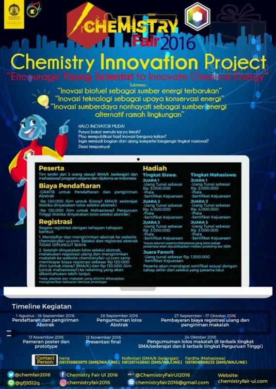 CHEMISTRY INNOVATION PROJECT 2016