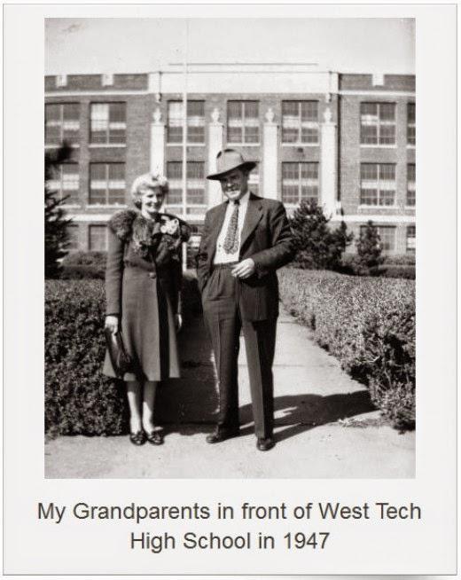 julia and alexander nagy at west tech high school 1947