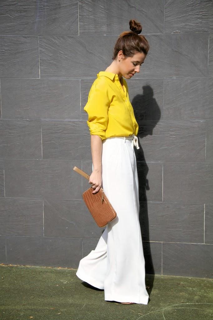 yellow silk shirt-50302-descalzaporelparque