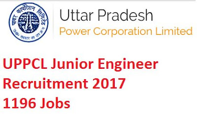 UPPCL Recruitment 2017 - 1,196 Vacancies for Junior Engineers