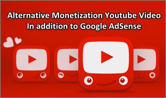 Alternative Monetization Youtube Video In Addition To Google Adsense