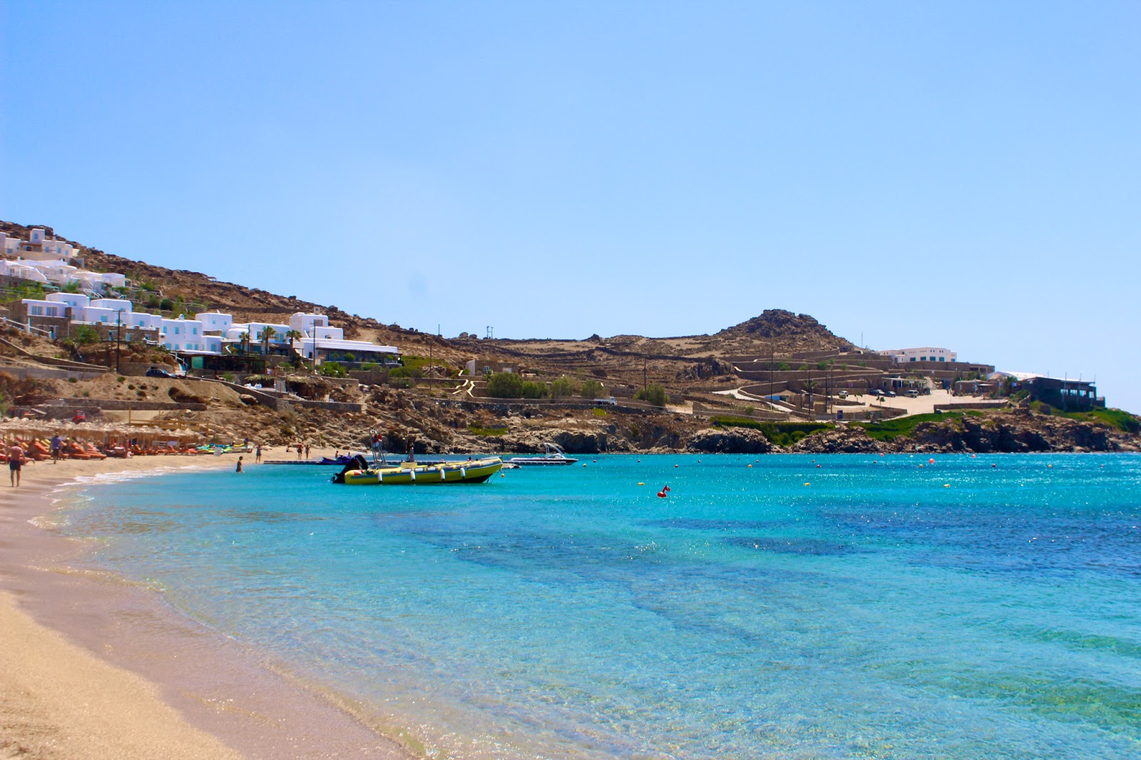 Best Island Beaches For Partying Mykonos St Barts: Nemo's Great Adventure: PSAROU BEACH & PARADISE BEACH