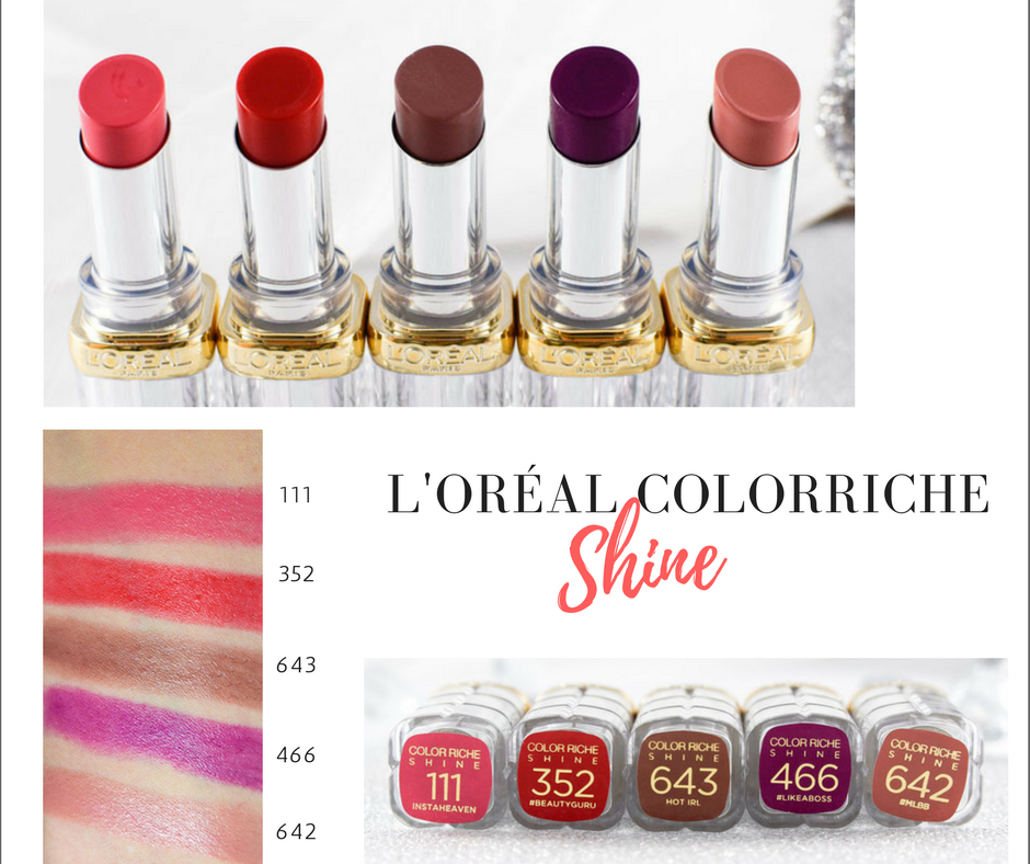 L'oréal Paris Color Riche Shine Lippenstifte