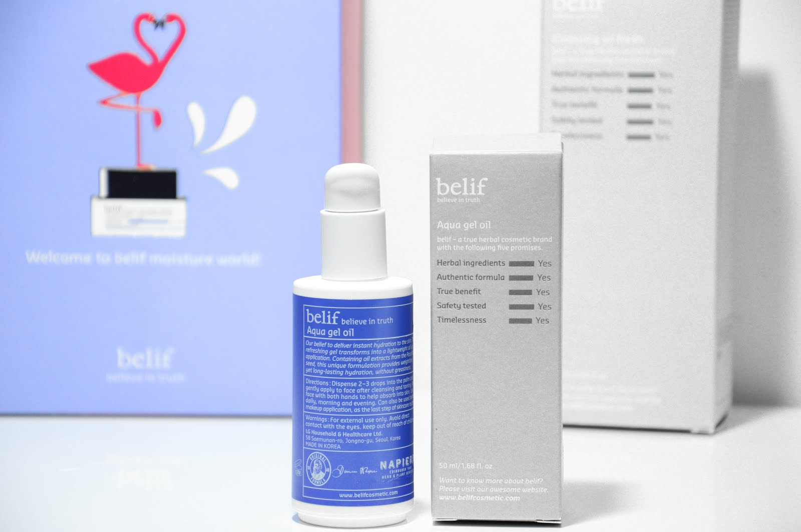 belif aqua gel oil review