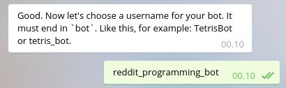 Membuat username untuk Bot