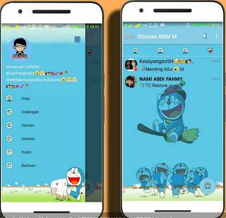 BBM Doraemon MOD Terbaru V3.0.1.25 APK