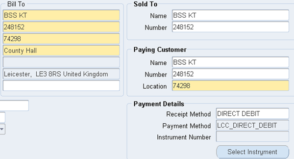 Ora-apps: Direct Debits In Oracle Apps