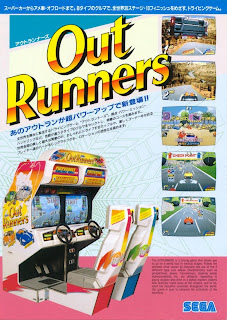 Out Runners arcade game portable flyer