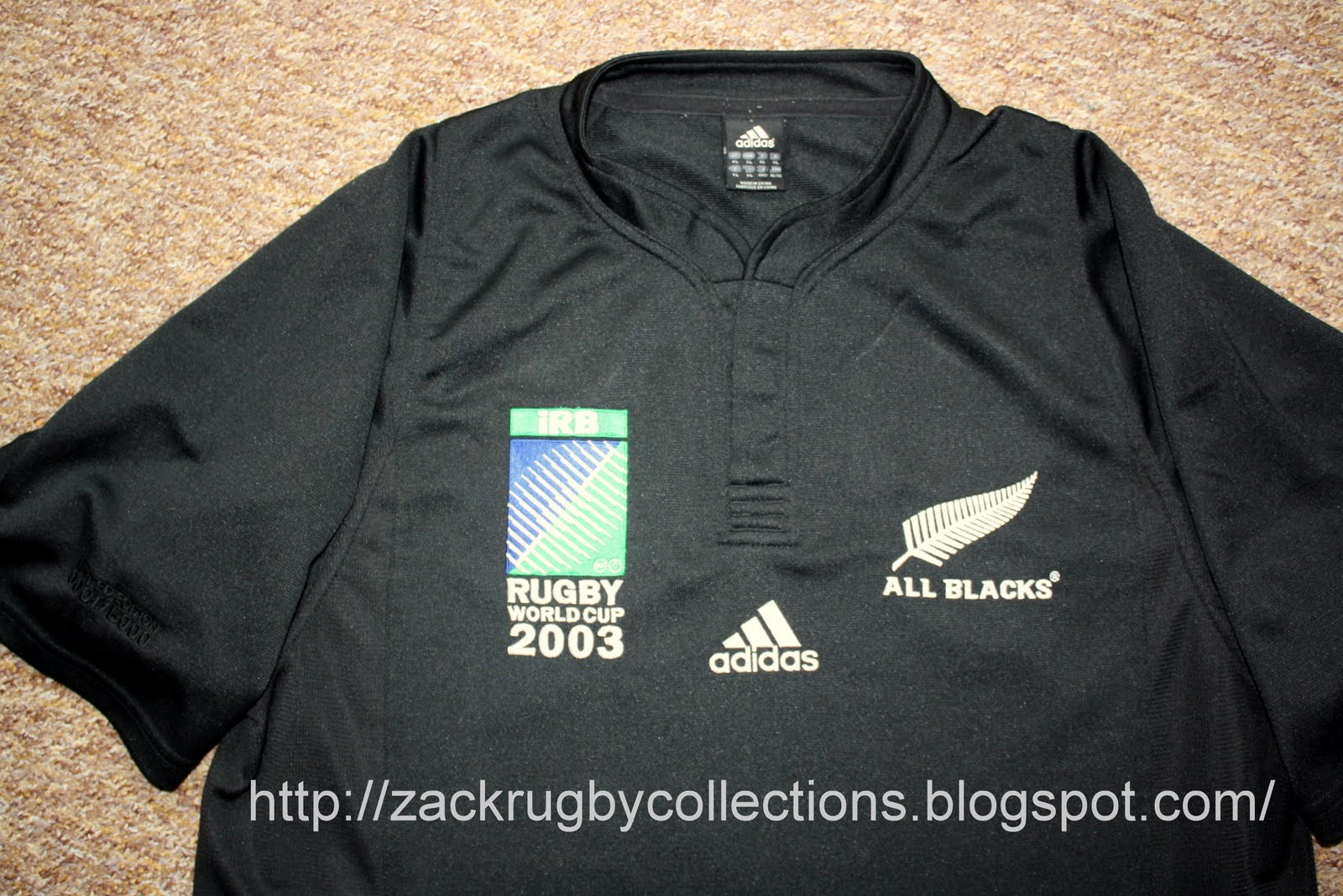 acca9f798c2 New Zealand All Blacks SS RWC 2003 LTD Edition Rugby Jersey made by Adidas.  Official All Blacks LTD Edition rugby jersey released for Rugby World Cup  2003 ...