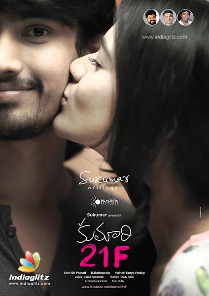 Poster Of Kumari 21F 2015 480p Telugu HDRip Full Movie Download