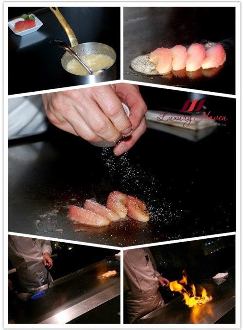 yamanami teppanyaki flambe desserts aomori apples review