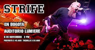 Concierto de STRIFE HxC ¡Por primera vez en Bogotá!