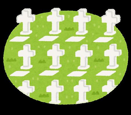 墓地のイラスト(十字架)