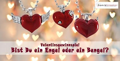 Rote Herzen mit Flügeln