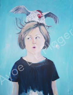 bæredygtig,its in our hands,art,kunst,galleri,gallery,høne,maleri,moderne kunst, pige, farver