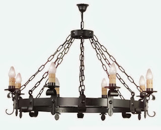 lampara rustica salon bodega