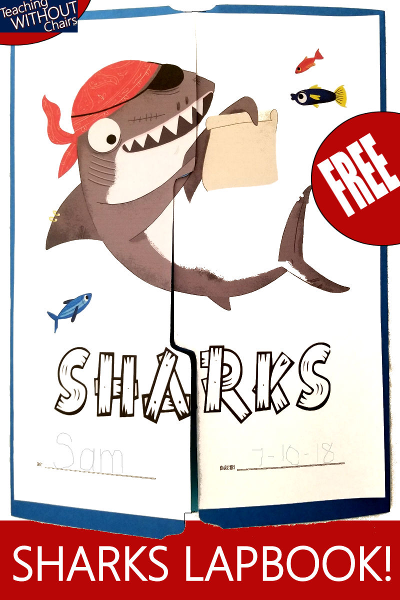FREE Shark Lapbook | Homeschool Shark Unit Study | Teaching Without Chairs