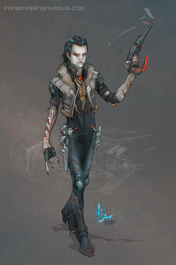 Lobo Concept Art New 52 Redesign Character