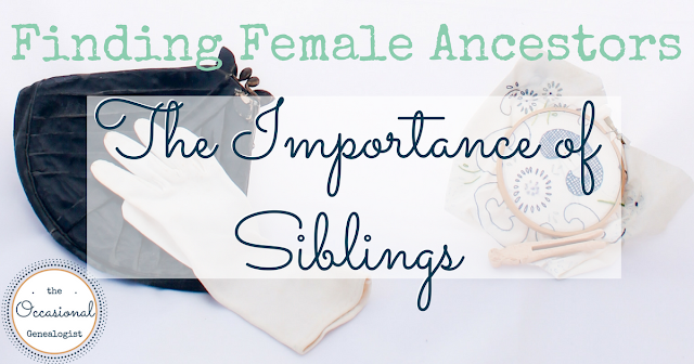 Finding female ancestors is hard. Use all your genealogy tools like collateral research and reverse genealogy.