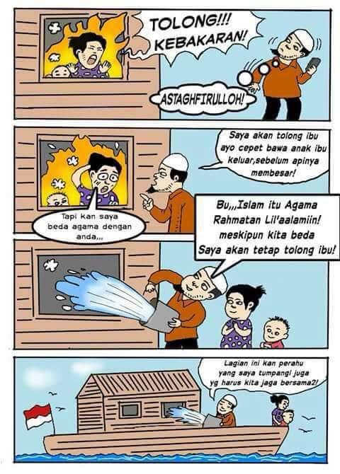 Dua Kartun yang Membantah Fitnah Agamamu Apa dan Sebuah