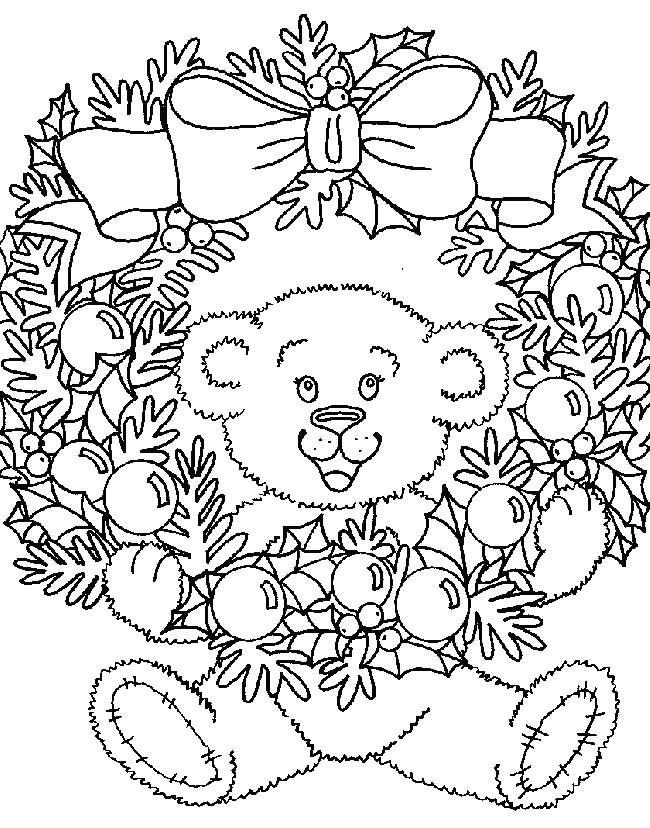 Рождественский венок картинки для распечатки