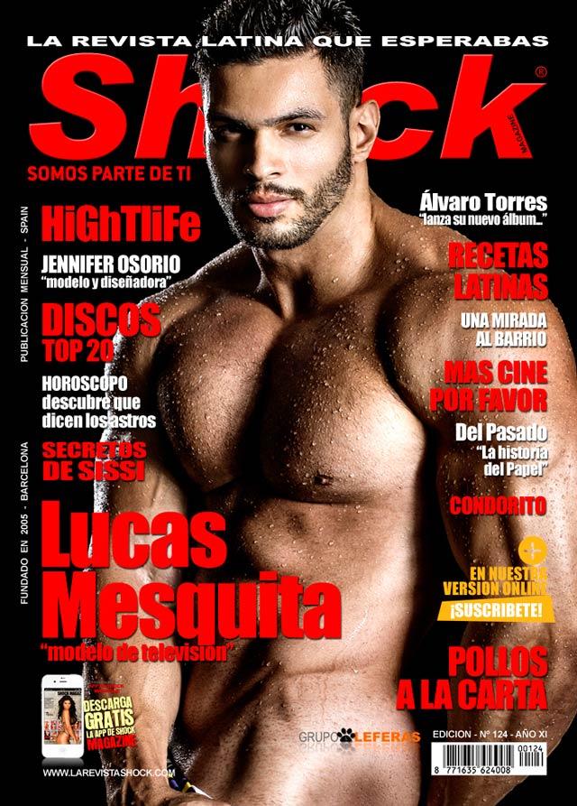 Lucas Mesquita é capa da edição de abril da revista espanhola Shock Magazine. Foto: Reprodução