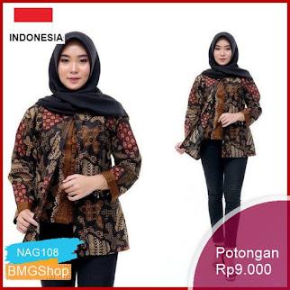 NAG108 Atasna Batik Wanita Ppbtk07 Batik Casual Murah Bmgshop