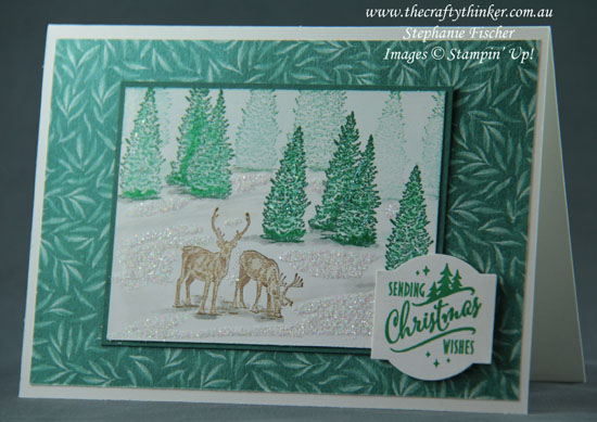 #thecraftythinker  #stampinup  #christmascard  #cardmaking  #naturesings , Christmas Card, Nature Sings, Stampin' Up Australia Demonstrator, Stephanie Fischer, Sydney NSW