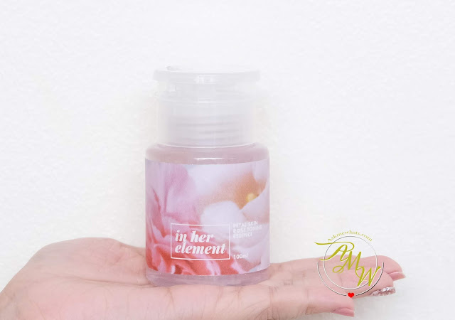 a photo of In Her Element Petal Skin Rose Toning Essence and Petal Rose Clay Mask review