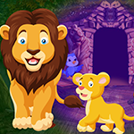 Games4King Lion and Cub Escape Game