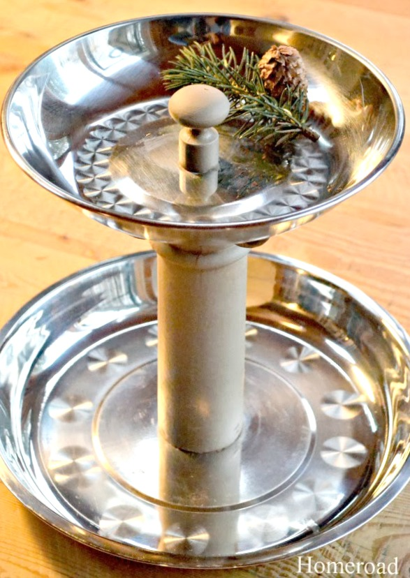 Tiered Trays using silver trays