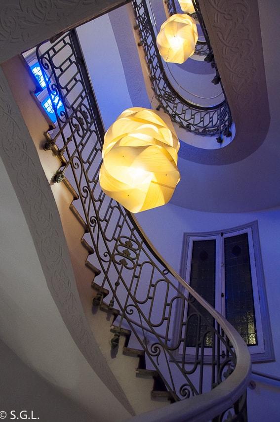 Escaleras del Petit Palace Savoy Alfonso XII. Madrid