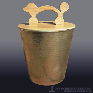 wooden poodle trash can lid