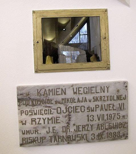Kamień węgielny pod kościół św. Mikołaja w Skrzydlnej