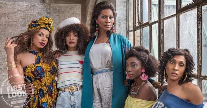 Hailie Sahar, Indya Moore, Dominique Jackson, Angelica Ross y MJ Rodriguez, actrices trans de 'Pose'