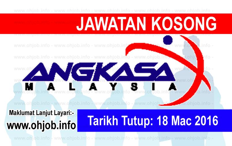 Jawatan Kerja Kosong Agensi Angkasa Negara (ANGKASA) logo www.ohjob.info mac 2016
