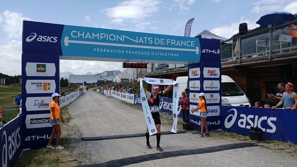 Aurélien Dunand-Pallaz - Courchevel sports outdoor devient le champion de France de Trail longue distance (67 km) 2018