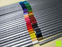 Farbmarkierung: KINGTOP 48er Buntstifte Schaft Farbstift Eco Bleistifte Kartonetui für Kunst Aquarelle gut Geschenk