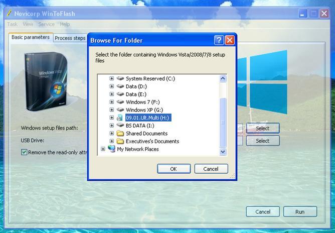 cara instal windows 7 dengan flashdisk Pilihan Drive CD/DVD windows