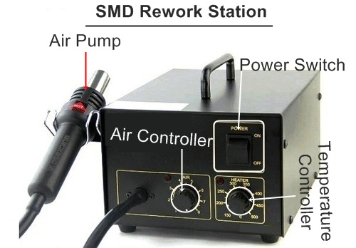 how to solder & remove any mobile phone parts using with smd rework station in Hindi