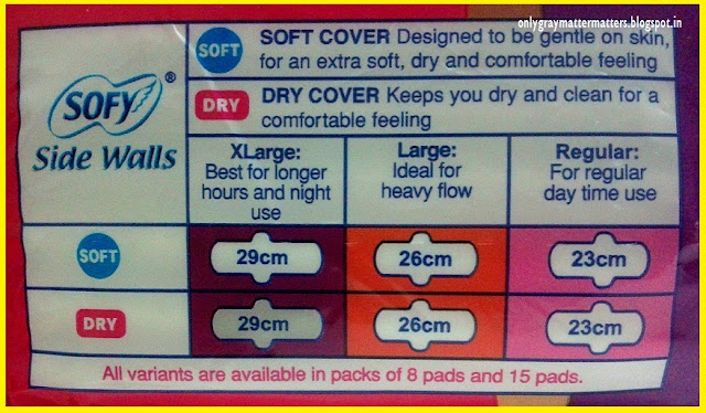 Sofy Side Walls Sanitary Napkins Review Size Chart