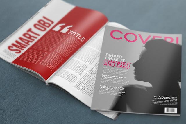 Mockup Magazine Template PSD