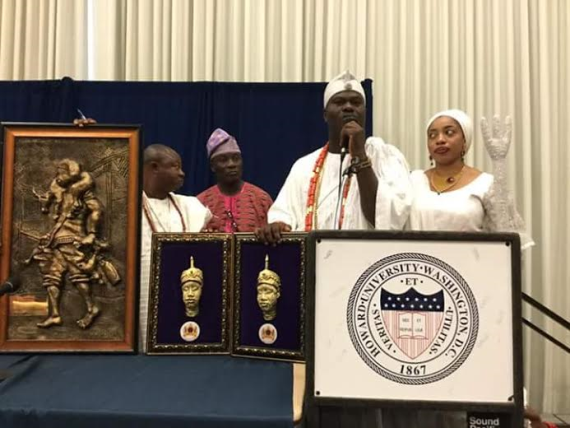 Ooni of Ife, Oba Ogunwusi attends Symposium at Howard University, USA (See Photos)